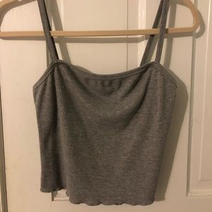Forever 21 grey ribbed tank top